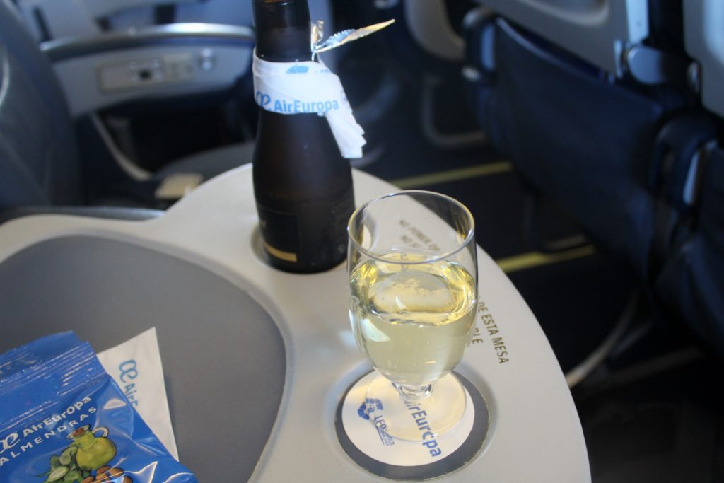 Air Europa Business Class Madrid-Amsterdam cava