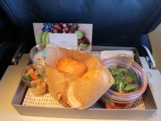 Air Europa Business Class Madrid-Amsterdam dinner