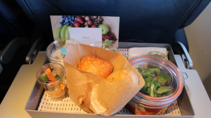 Air Europa Business Class Madrid-Amsterdam dinner