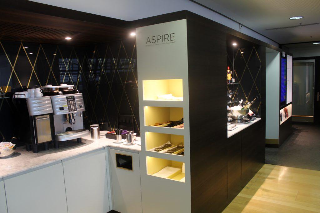 Aspire Lounge (Skyteam), Zürich Kloten, Schengen self service buffet