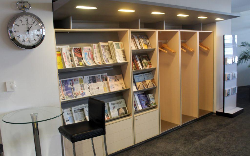 Aspire Lounge (Skyteam), Zürich Kloten, Schengen newspapers and magazines