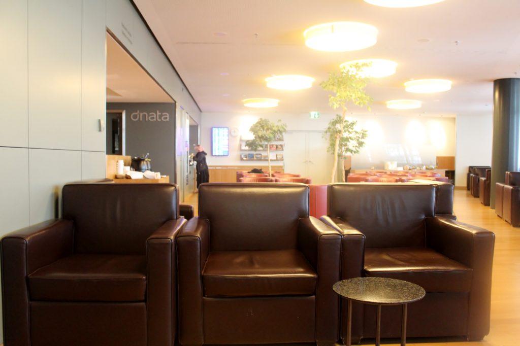 Dnata Skyview Lounge, Zürich Kloten seating area