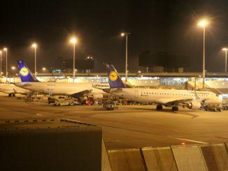 Lufthansa Business Class Amsterdam-Frankfurt apron