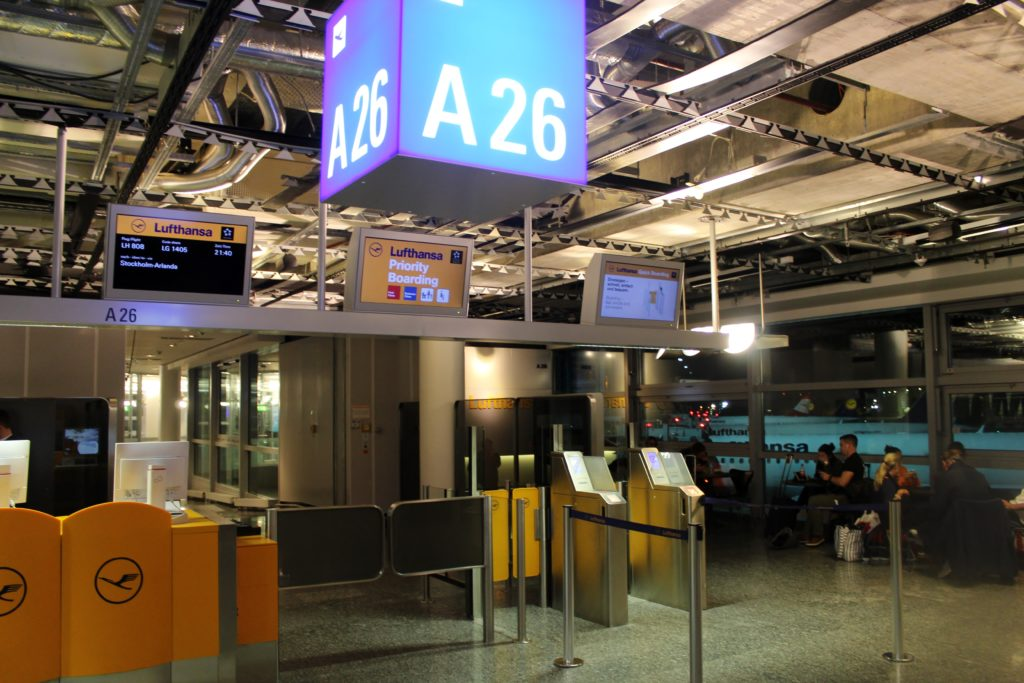 Lufthansa Business Class Frankfurt-Stockholm gate