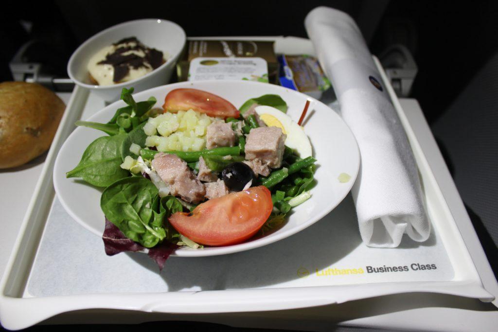 Lufthansa Business Class Frankfurt-Stockholm dinner