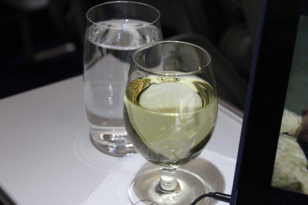 Lufthansa Business Class Frankfurt-Stockholm white wine