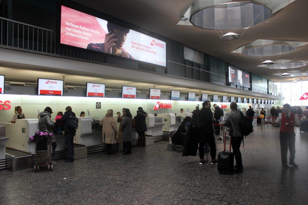 Swiss Business Class Zürich-Barcelona Check-in