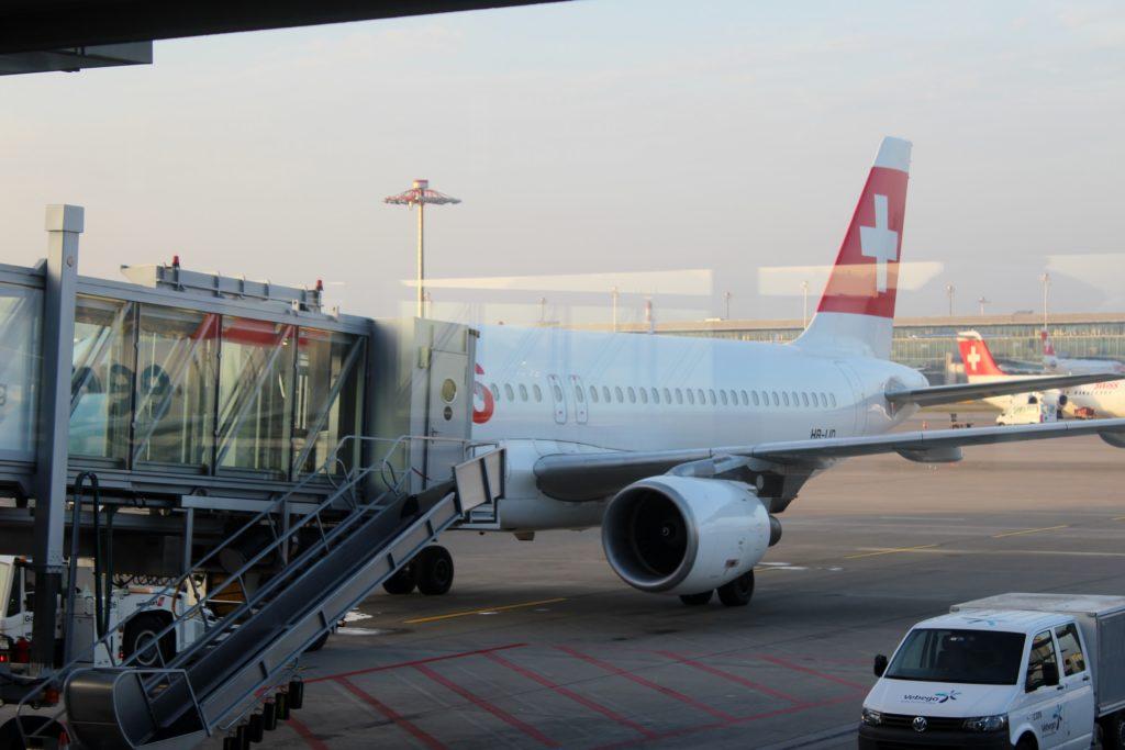 Swiss Business Class Zürich-Barcelona Airbus A321