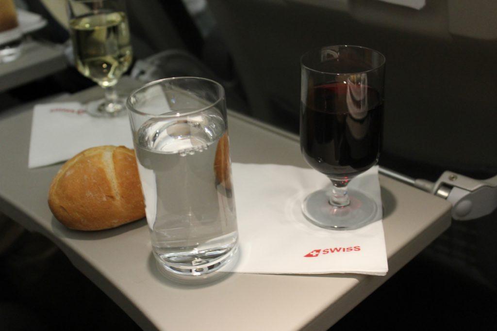 Swiss Business Class Zürich-Barcelona wine