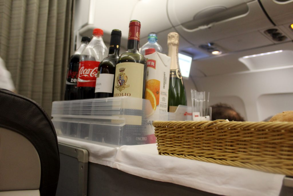 Swiss Business Class Zürich-Barcelona drinks
