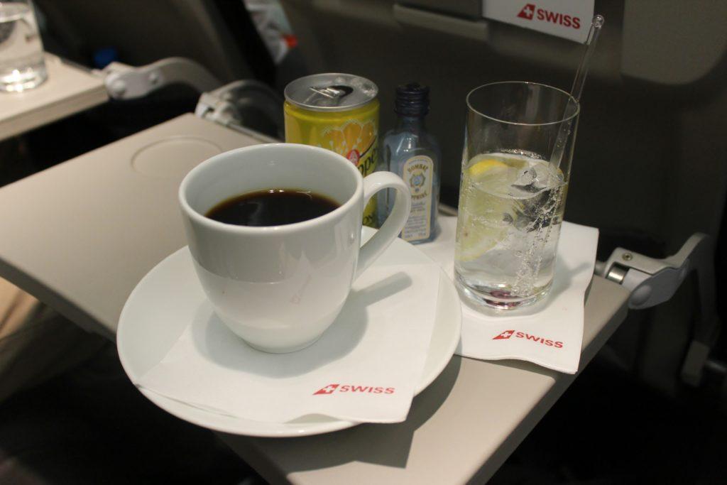 Swiss Business Class Zürich-Barcelona coffee