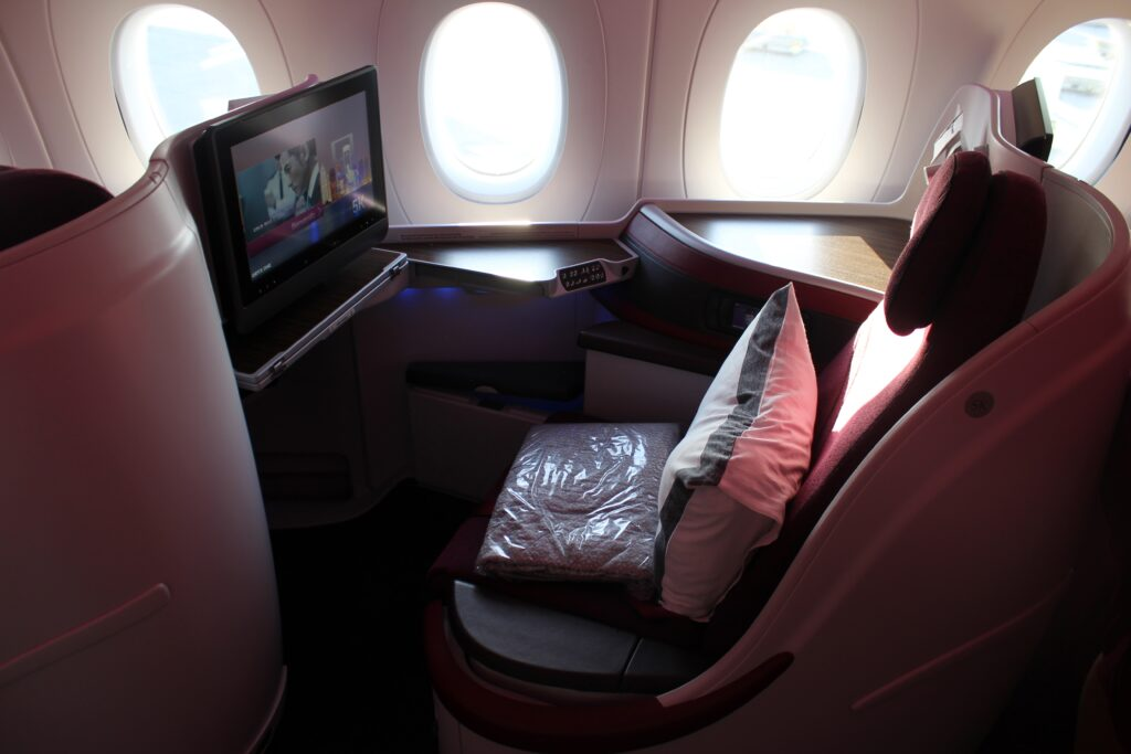 Qatar Airways Business Class on the Airbus A350