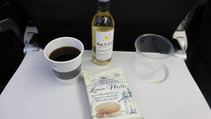 Last free snacks and drinks in British Airways shorthaul economy class
