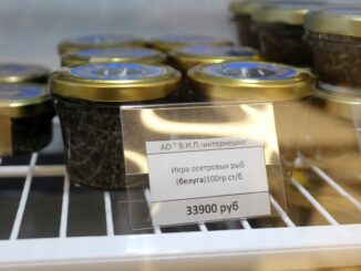 Caviar in the lounge at Moscow Sheremetyevo airport