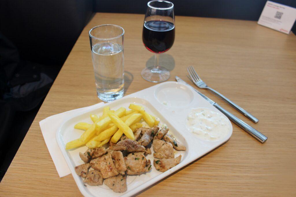 Dinner in the Swiss Senator Lounge in Zürich