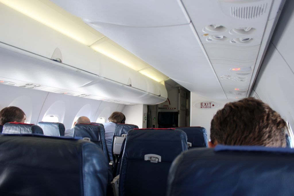LOT Premium Economy Prague-Warsaw cabin