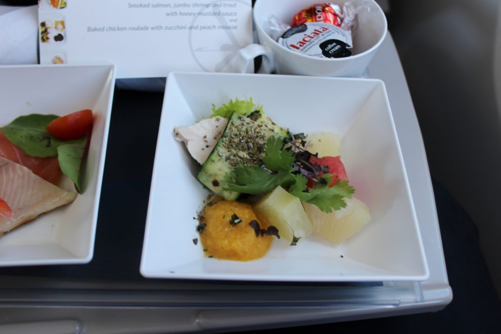 LOT Premium Economy Prague-Warsaw dinner