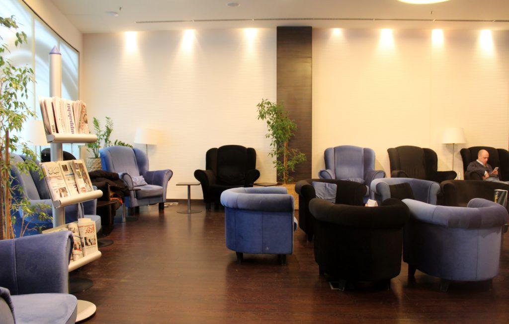 SkyCourt Lounge, Budapest seating area