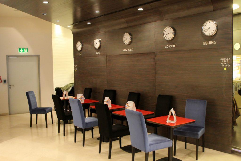 SkyCourt Lounge, Budapest restaurant area
