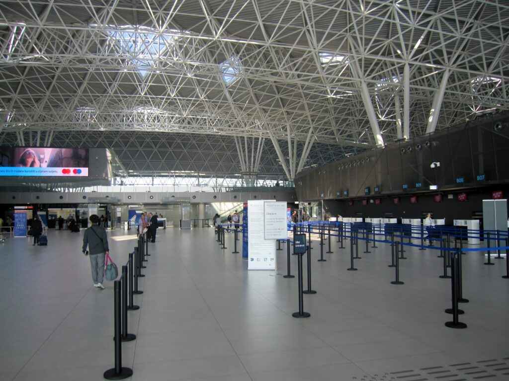 The new terminal building at Zagreb airport
