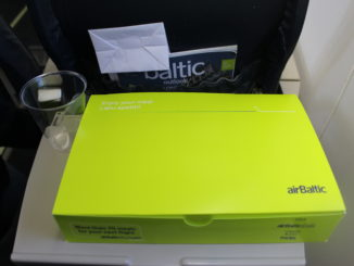 Air Baltic breakfast box in economy class