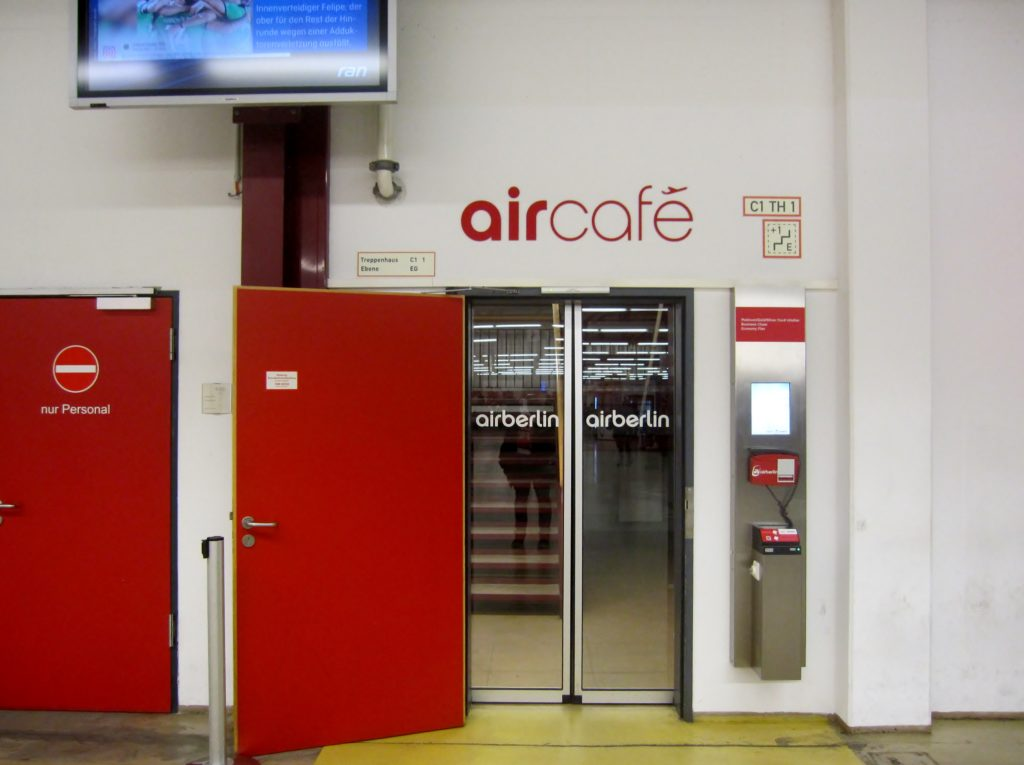 Air Berlin Exclusive Waiting Area Aircafe Berlin Tegel terminal C