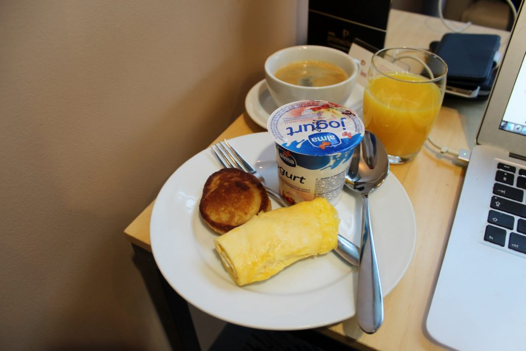 Breakfast in the Primeclass Lounge in Riga