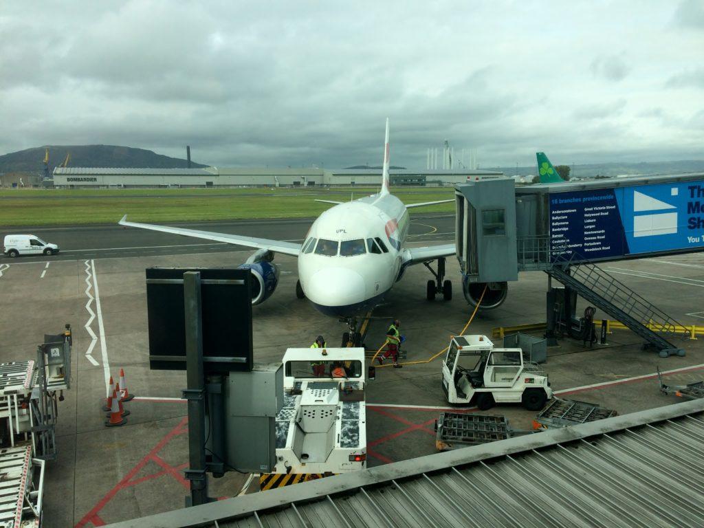 British Airways Airbus A320 at Belfast City Airport