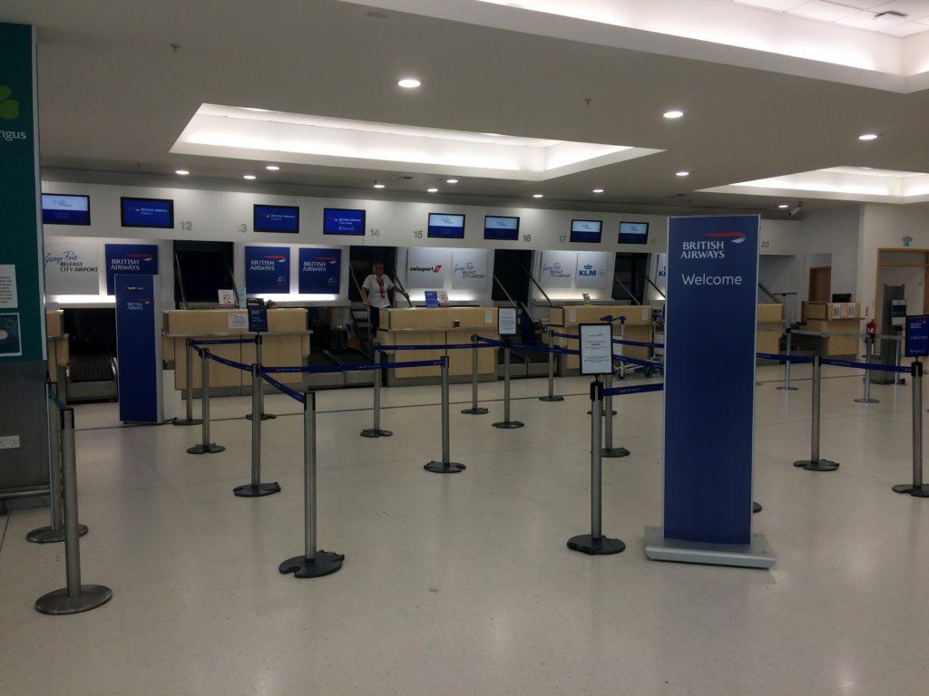 British Airways check-in at Belfast City Airport