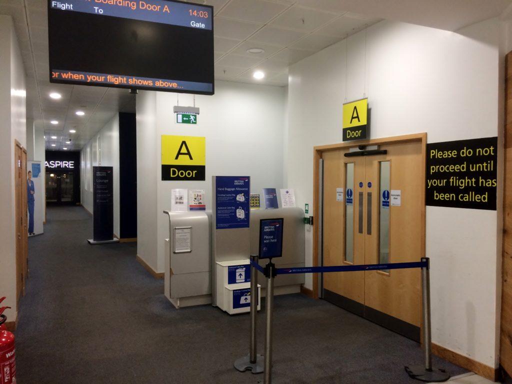 British Airways premium boarding experience at Belfast City Airport