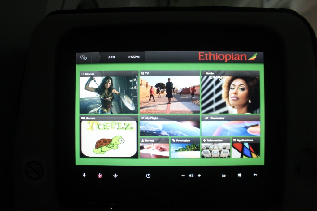 Ethiopian Airlines Economy Class Boeing 787 Dreamliner Oslo-Stockholm