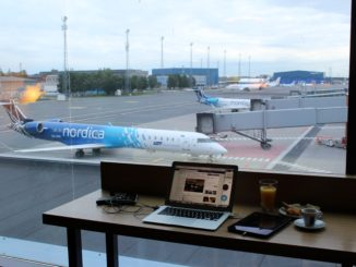 Great apron view from the lounge at Tallinn airport