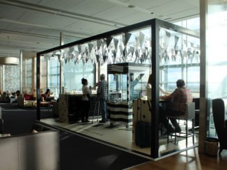 Jo Malone pop-up stand in the British Airways Galleries First lounge at London Heathrow