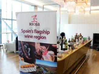Rioja wines in the British Airways Galleries First Lounge, London Heathrow