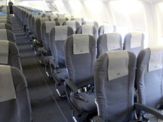 SAS cabin on the retrofitted Boeing 737
