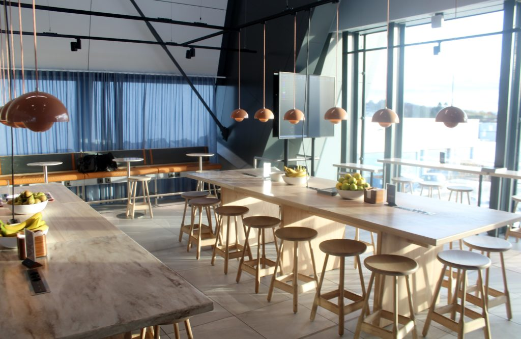 SAS new cafe lounge at Bergen Flesland airport