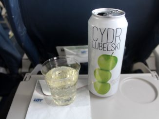 Cydr Lubelski apple cider on LOT Polish Airlines