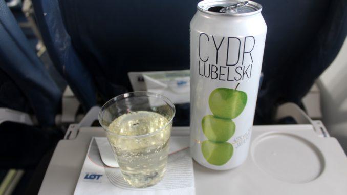 Cydr Lubelski apple cider on LOT Polish Airlines