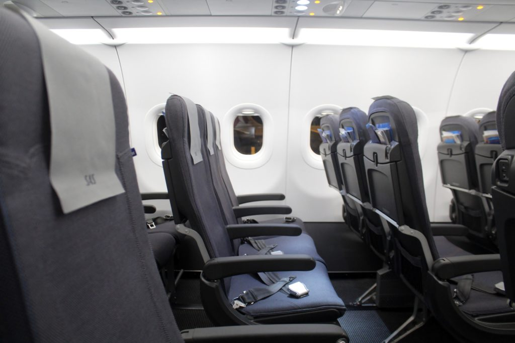 SAS cabin on the Airbus A320NEO