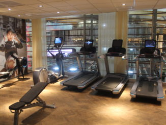 The gym in the SAS Domestic Lounge at Oslo Gardermoen