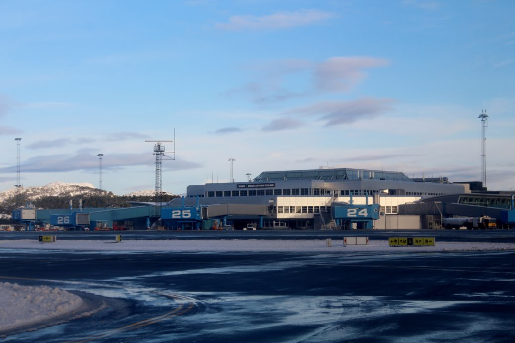 The old terminal at Bergen Flesland airport