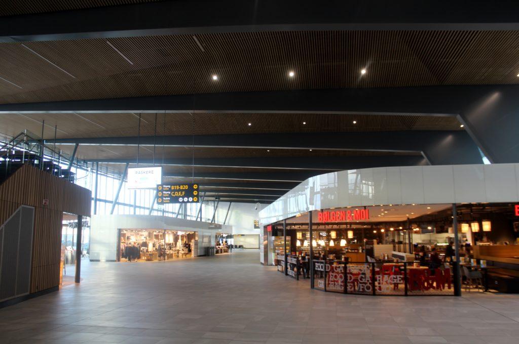 The new terminal at Bergen Flesland airport