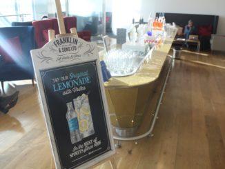 Vodka tasting in the British Airways Galleries First Lounge at London Heathrow terminal 5