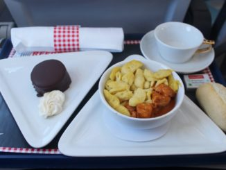 Austrian Airlines Business Class Frankfurt-Vienna
