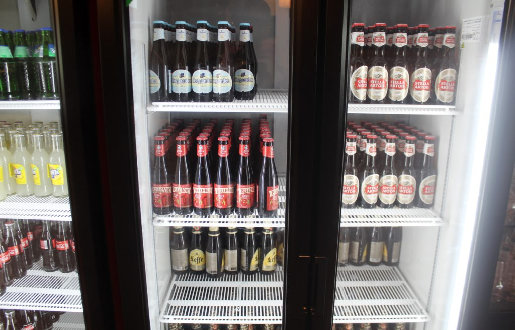 Belgian beer in the Diamond Lounges at Brussels airport