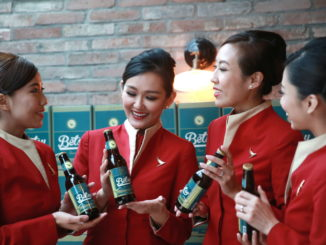 Betsy Beer craft beer in Cathay Pacific business class and first class