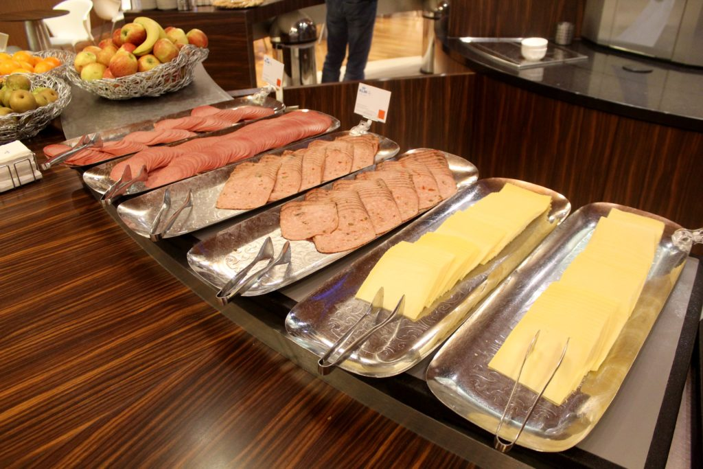 Breakfast in the KLM Crown Lounge at Amsterdam Schiphol