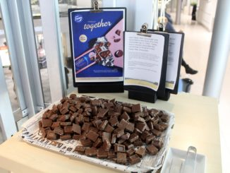 Fazer milk chocolates in the Finnair Lounge in Helsinki