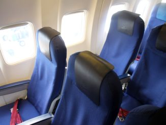 KLM shorthaul Economy Comfort seat on the Boeing 737