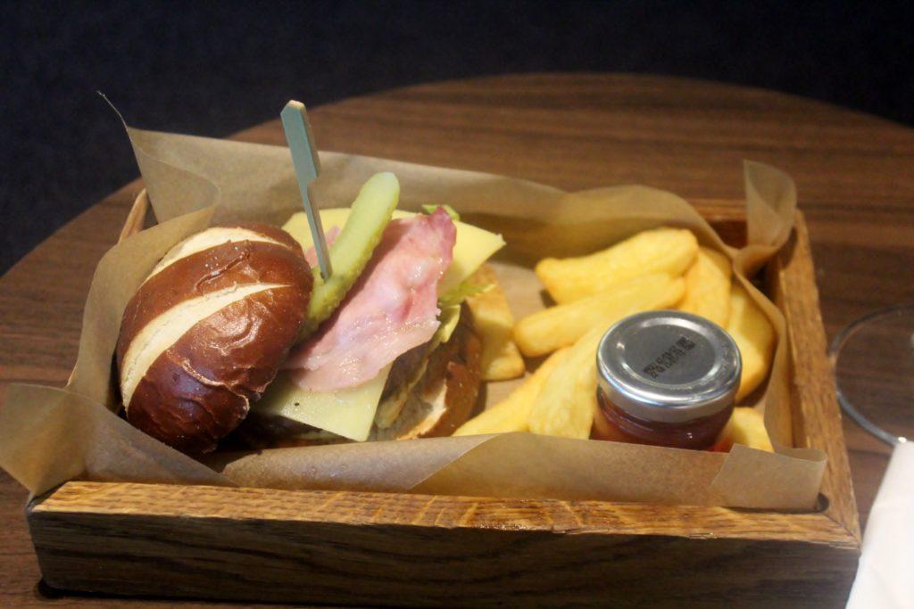 New BA Burger in the British Airways Galleries First Lounge at London Heathrow terminal 5